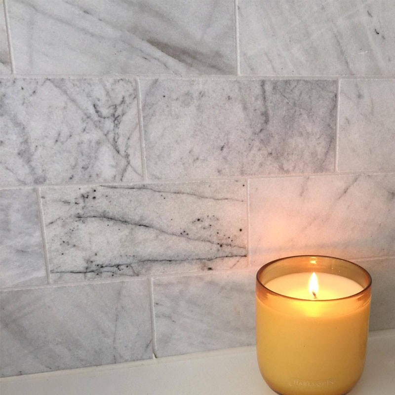Persian White Subway Honed Marble
