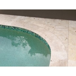 Travertine Classico Paver Tumbled | Medium Shade|Template Edge Work is Supplied by Marble & Ceramic Corp