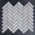 Serpeggiante Veincut Herringbone Honed Limestone Mosaic 20x64