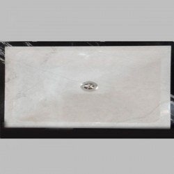 Bianca Perla Limestone - Rectangle Basin - Honed