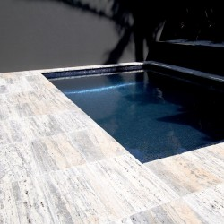Silver Light Veincut Tumbled Paver Travertine