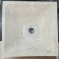 Travertine Classico - Square Angle Basin - Honed