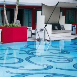 Azure 1- Italian Glass Mosaics Pool Tiles|On Plus System