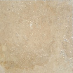 Beige Epoxy Filled Polished Travertine
