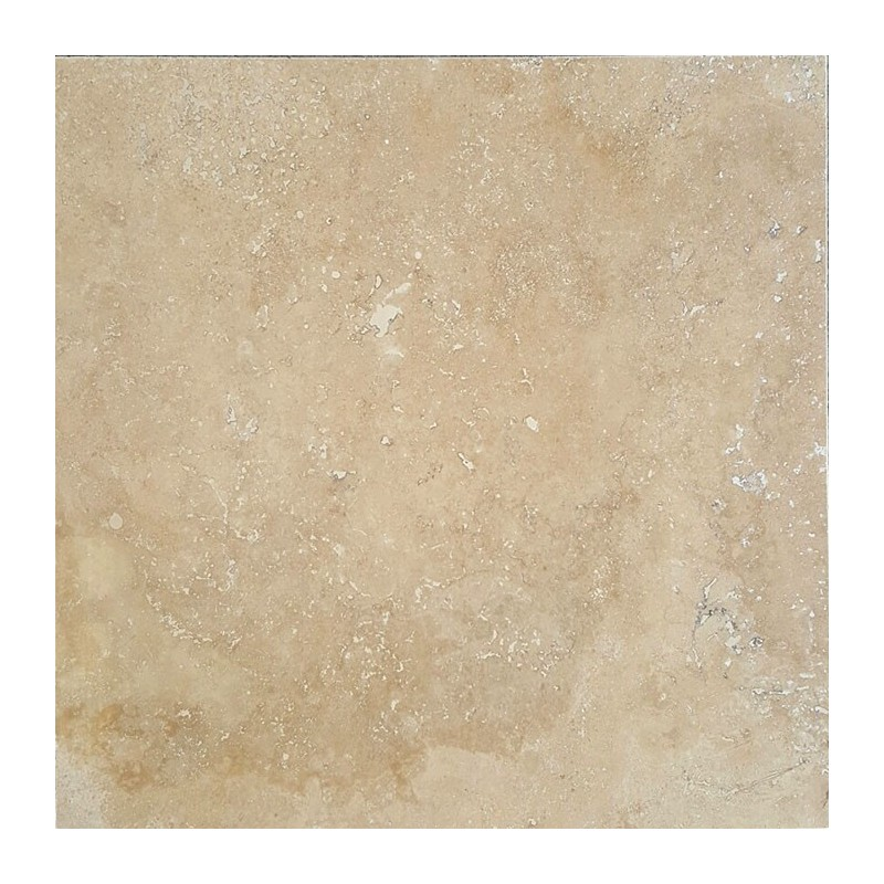 Beige Veincut Epoxy Filled Polished Travertine Tile
