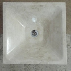 Travertine Classico - Square Round Basin - Honed