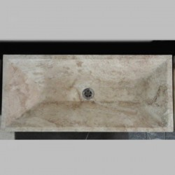 Travertine Classico - Rectangle Angle Basin - Honed