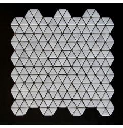 Carrara Triangle Tumbled Marble Mosaic