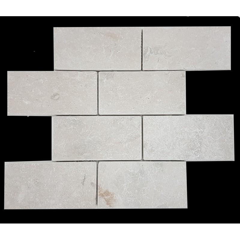 New Botticino Tumbled Subway Sheeted Marble