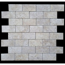 Classico Medium Tumbled Subway Sheeted Travertine