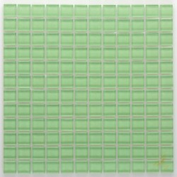 Crystal Glass Mosaic Ireland Green 25x25