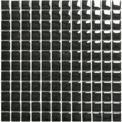 Crystal Glass Mosaic Black 25x25