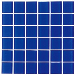 Crystal Glass Mosaic Endless Blue 50x50