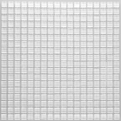 Crystal Glass Mosaic Bright White 15x15