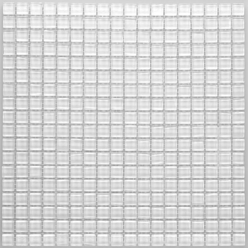 Crystal Mosaic Bright White 15x15