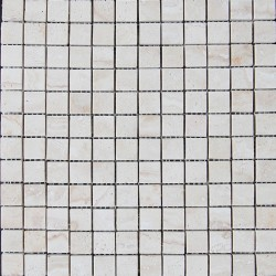 Silk Filled Polished Travertine Mosaic 25x25