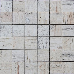 Silk Filled Polished Travertine Mosaic 50x50