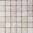 Chiaro Tumbled Travertine Mosaic 50x50