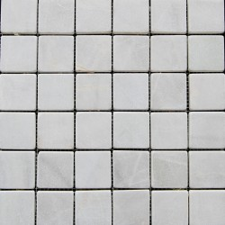 Bianca Luminous Tumbled Marble Mosaic 50x50