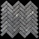 Pietra Grey Herringbone Tumbled Limestone Mosaic 64x20