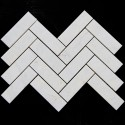 Bianca Luminous Herringbone Honed Marble Mosaic128x40