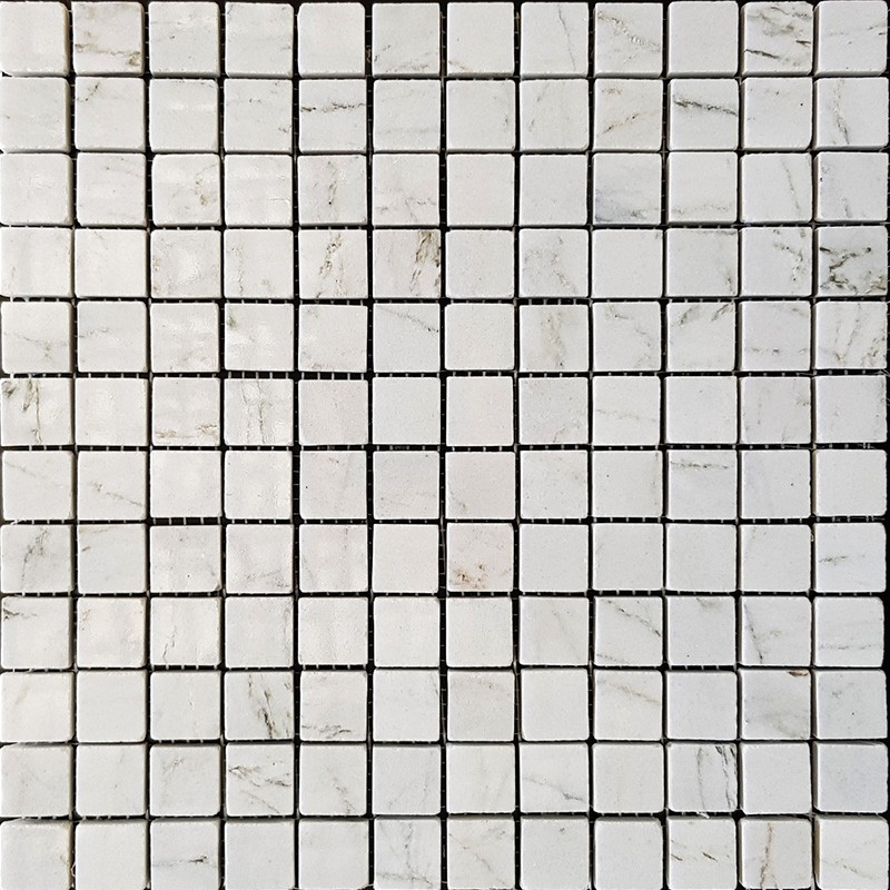 Persian White Polished Marble Mosaic 50x50