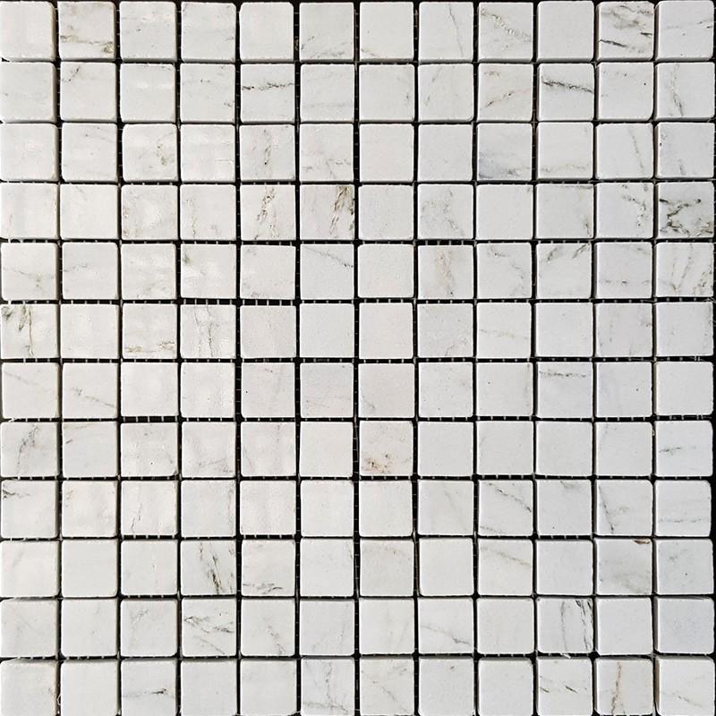 Persian White Polished Marble Mosaic 50x50