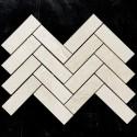 Bianca Perla Herringbone Honed Marble Mosaic128x40