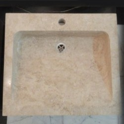 Classico Honed Rectangle Slope Basin Travertine