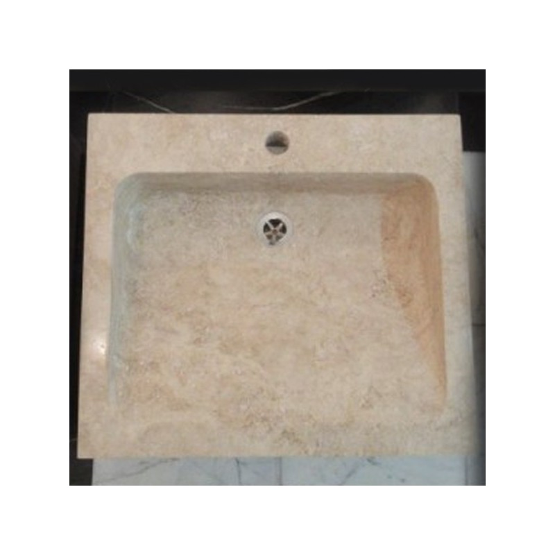 Travertine Classico - Rectangle Basin - Honed