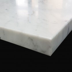 Carrara Honed Pencil Edge Step Tread Marble