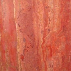 Rosso Vein Cut Epoxy Filled Polished Travertine