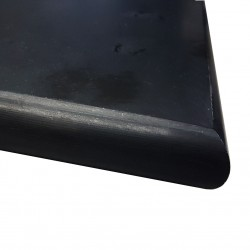 Nero Marquina Honed Bullnose Step Tread Marble