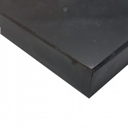 Nero Marquina Honed Pencil Edge Step Tread Marble