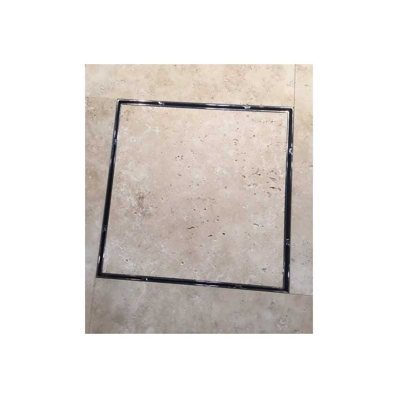 Hide Drain Cover With Custom Stone Inlay Marble