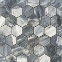 Bardiglio Hexagon Honed Marble Mosaic 48x48