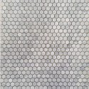 Hexagon Carrara Marble Mosaics 23DIA
