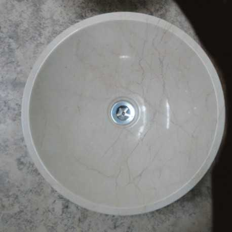 Royal Botticino Marble - Round Basin - Polished