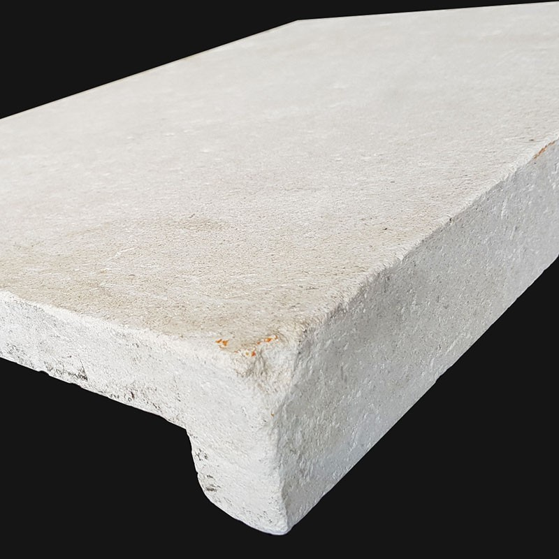 Crema Luminous Tumbled Rebated Pencil Edge Limestone