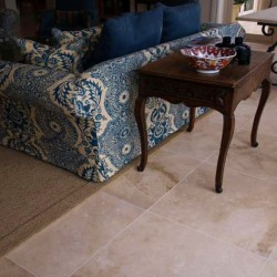 Travertine Classico (Pompeii) - Cross Cut - Epoxy Filled & Honed - Medium Shade