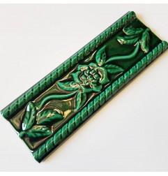 Heritage Green Gloss Nerina Listello Ceramic Tiles