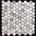 New York Hexagon Honed Marble Mosaic 48x48