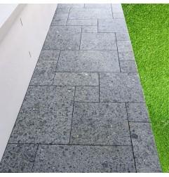 Diamond Black Flamed Granite French Pattern(G684) Basalt
