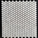 Carrara Penny Round Honed Marble Mosaic 15x15