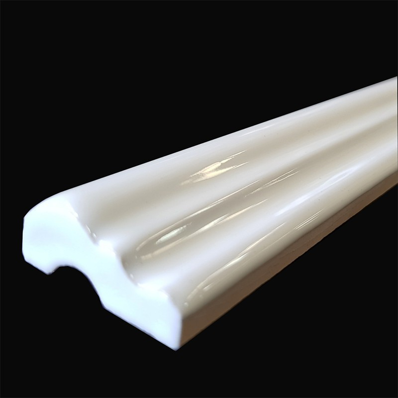 White Gloss Capping Ceramic Tiles