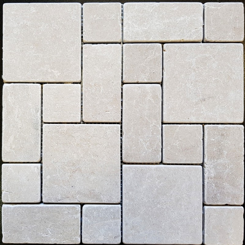 New Botticino Mini French Pattern Tumbled Marble Mosaic