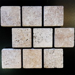 Classico Tumbled Brick Pattern Cobblestone Travertine