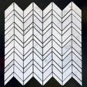 Carrara C Chevron Honed Marble Mosaic