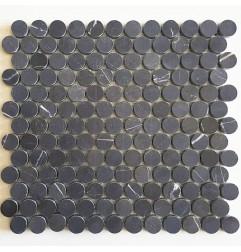 Pietra Grey Penny Round Honed Limestone Mosaic 23x23