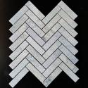 Green Celest Herringbone Honed Marble Mosaic 25x98